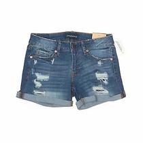 Nwt Aeropostale Women Blue Denim Shorts 0 Photo