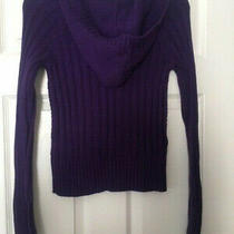 Nwt - Aeropostale Women's Sweater Size Small Hooded Cable Knit Purple  Photo