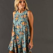Nwt Agnes and Dora Swing Tunic Tank Light Teal Blush Floral M Medium (8-10) Photo