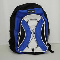 Nwt Air Express Backpack Blue Black White School Book Bag Tote New Msrp 29.99 Photo