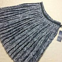 Nwt - Ak Ann Klein Black and White Swing Skirt - Size 10    Photo