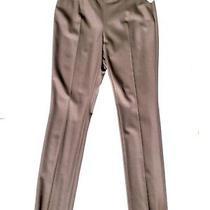 Nwt Akris Punto Brown Mocca Wool Straight Leg Pants Trousers 8 Photo