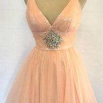 Nwt Alex & Sopkia 200 Blush Party Evening Prom Dress 7 Photo