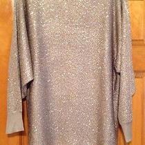 Nwt Alfani Champagne Blush Gold 3/4 Sleeve Sequin Sweater Size 0x Photo