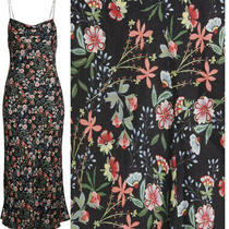 Nwt Alice & Olivia Harmony Slip Floral Dress Size 10 White Yellow Floral 295 Photo