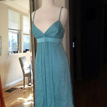 Nwt Alix & Kelly Rosie Cocktail/party Dress Aqua Silk Chiffon Size 8  Photo