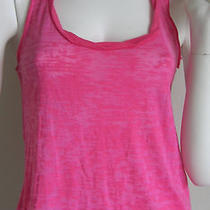 Nwt Alternative Apparel Burnout Tank Top Burn-Out Pink Peony Racerback S New Photo
