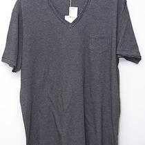 Nwt Alternative Mens Casual v-Neck T- Shirt Top Black Sz Xl  Photo