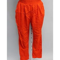 Nwt Alternative Orange Baggy Harem Style Skinny Leg Elastic Waist Pants Size M Photo