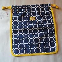 Nwt Ame & Lulu Drawstring Shoe Bag Cru Golf or Tennis Nautical Cute Bag Photo