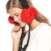 Nwt American Rag Junior Acrylic Red Heart Ear Band Osfa Photo