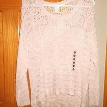 Nwt American Rag Women's Loose Knit Cameo Rose Sweater Med 100% Acrylic Photo
