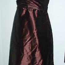 Nwt Amsale Chocolate Brown Taffeta Strapless Dress Sz 10 Evening 245 Photo