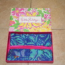 Nwt and Gift Box Sold Out Lilly Pulitzer Murfee Scarf in Mai Tai - Rare Photo
