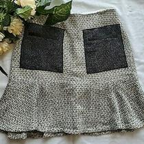 Nwt Ann Taylor Black White Peplum Short Business Career Skirt Sz 2 Photo