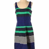 Nwt Ann Taylor Loft Outlet Women Blue Casual Dress 4 Photo