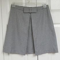 Nwt Ann Taylor Loft Textured Cotton Skirt Size 8 Black & White Photo