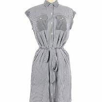 Nwt Ann Taylor Loft Women Blue Casual Dress Xs Photo