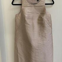 Nwt Ann Taylor Petite Pink Gold Metallic Jacquard Sleeveless Shift Dress Size 0p Photo