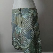 Nwt Ann Taylor Printed Denim Skirt 10 Photo