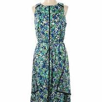 Nwt Ann Taylor Women Blue Casual Dress 12 Tall Photo