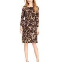 Nwt Anne Klein  Animal Stripe Sleeveless Sarong Dress Size L Photo