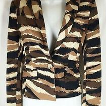 Nwt Anne Klein New 149 Black Brown Tan Jacket Blazer 2 Photo