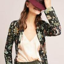 Nwt Anthopologie Floral Intarsia Blazer Size M Photo