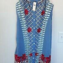 Nwt Anthropologie Blue Estina Embroidered Dress by Lilka Size Small 168 Flaw Photo