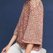 Nwt Anthropologie by Moth Salina Open Stitch Pullover Top Sz S Pink Sweater 118 Photo