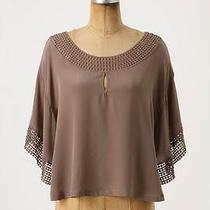 Nwt Anthropologie by the Addison Story Laguito Blouse Sz L Size Large Taupe Top Photo