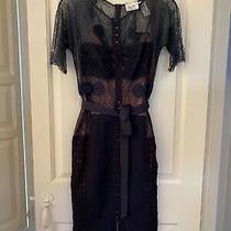 Nwt Anthropologie Byron Lars Carissima Sheath Dress Size 4 Navy Photo