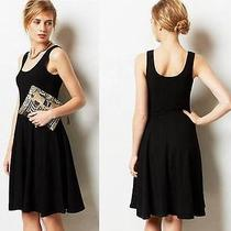 Nwt Anthropologie Cabled Garonne Dress by Bordeaux Black Size Xs Photo