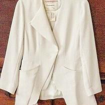 Nwt Anthropologie Cartonnier Ivory Cream Jacket Blazer Long Sleeve Woman Size 4 Photo