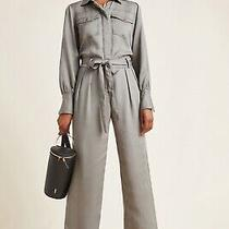 Nwt Anthropologie Desta Utility Jumpsuit by Current Air Moss Size Small 160 Photo