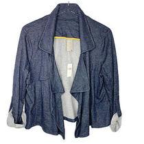 Nwt Anthropologie Dolan Size Xl Open Cascading Cardigan Jacket Marine Blue Photo