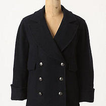 Nwt Anthropologie Easton Cropped Wool Blazer Peacoat Jacket 5 Stars Sz 0 2 8 10 Photo