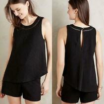 Nwt Anthropologie Elevenses Black Tiered Santa Ana Romper Layered Textured S Photo