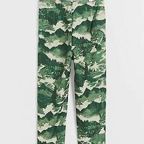 Nwt Anthropologie Eva Franco 'Nisa' Japanese Forest Green Print Pant Size 8 Photo