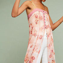Nwt Anthropologie Feather Bone Pink Floral Everly Long Tank Dress Size 10 (88) Photo