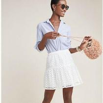 Nwt Anthropologie Frye X Talia Eyelet Mini Skirt - Size Xs Photo