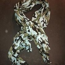 Nwt Anthropologie Green Blue Camo Camouflage Light Scarf-48 Photo