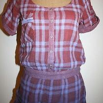 Nwt Anthropologie Gypsy 05 100% Cotton Tie Dye Checks Romper Jumpsuit Sz S Photo