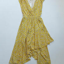 Nwt Anthropologie Maeve Fete in Yellow Motif Handkerchief Midi Dress S 130 Photo