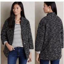 Nwt Anthropologie Minka Jacket by Elevenses Sz. Small (Oversized) Black/white Photo