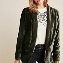 Nwt Anthropologie Napoli Textured Velvet Blazer Jacket by Chloe Oliver Size M Photo