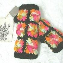 Nwt Anthropologie Nirvanna Flower Crochet Wool Fingerless Gloves Handwarmers Photo