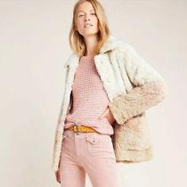 Nwt Anthropologie Ombre Faux Fur Coat Jacket Size Xs 198 5 Stars Cream Pink Photo
