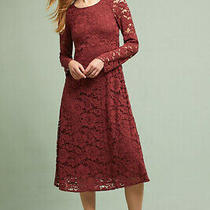 Nwt Anthropologie Ottod'ame Garnet Lace Midi Dress Size 4 Italy Red Party 220 Photo