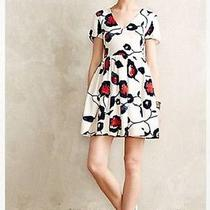Nwt Anthropologie Painted Poppies Dress Size Large by Collective Concepts Photo